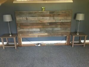 Bedhead Headboard Wooden Rustic Pallets - all sizes available