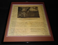 The Star Spangled Banner Lyrics Framed 16x20 Parchment Paper Reproduction
