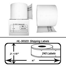 """DYMO LW 30323 / 30573 Direct Thermal Shipping Labels - (6) Rolls - 2-1/8"""" x 4"""""""
