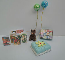 DOLLS HOUSE - MINIATURE CHILDRENS'  BIRTHDAY PARTY PACK