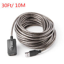 30Ft/10M USB 2.0 Extension Repeater Cable Signal Booster A Male To A Female Hot