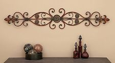 Large Decorative Rustic Scrolling Wrought Iron Wall Grille Art Panel Home Decor