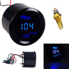 "Car Motor HOTSYSTEM Black 2"" 52mm Blue Digital LED Fahrenheit Water Temp Gauge"