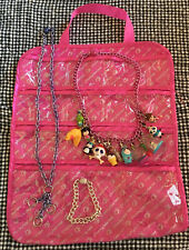 Lucky Beebee Charm Bracelet & 2 Necklaces Case with 13 Charms Set