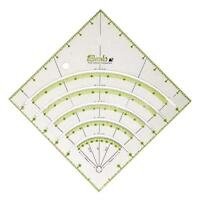 Arcs & Fans Quilt Circle Cutter Ruler,Multifunctional Arc Cutting Patchwork Rule