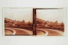 Paris Louvre Tuileries France Plaque verre stereo ca 1930