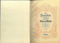 Peter von Winter ~ Singschule ~ und weitere Bücher für Gesang - privat gebunden