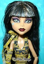 MONSTER HIGH CLEO DE NILE DOLL W/ DELUXE FASHION PACK OUTFIT CLOTHES + SHOES