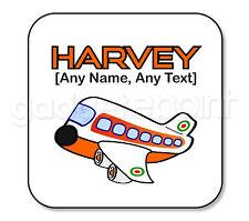 Personalised Gift Aircraft Airplane Aeroplane Coaster Square Pilot Present Idea