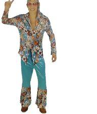 Adult Mens Hippie Costume Party 60's 70's Hippie Woodstock Fancy Dress