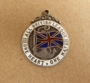 WW1 AIF AUSTRALIAN ALL BRITISH LEAGUE  STG SILVER  FOB MEDAL