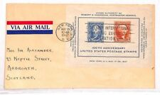 VV486 1947 USA 100th Anniversary Stamps Arbroath Scotland Cover{samwells-covers}