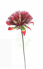 Lot of 2 Artificial Flower Stems with Red Stamens Silk