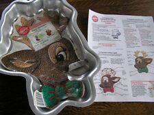 Wilton 2000 RUDY Rudolph REINDEER Cake Pan Mold #2105-180 w/ Insert~Instructions