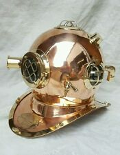ANTIQUE U S NAVY MARK V  SOLID COPPER & BRASS DIVERS HELMET