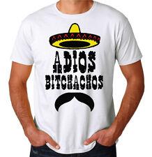 Adios Bitchachos Funny Mexican Hipster Parody Funny Internet Meme Joke T-Shirt