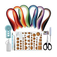 Juya Paper Quilling Kits with 30 Colors 600 Strips and 8 Tools (Paper Width:3...