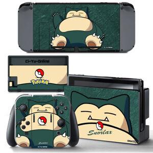 Ci-Yu-Online [NS] Pokemon Snorlax VINYL SKIN STICKER for Nintendo Switch Joy-Con