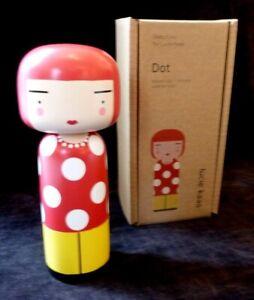 LUCIE KAAS Wooden Kokeshi doll figurine YAYOI KUSAMA Dot  BNIB ARTIST