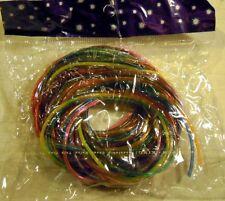 Scoubidou Bänder, Flechtschnüre mit Glitter je 1m, 12 Stück pro Pack, ungeöffnet