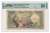 ALGERIA banknote 500 Francs 1958 PMG VF 25 Very Fine