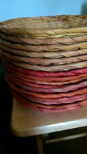 Set Of 15 Wicker Bamboo Rattan Woven Paper Plate Holders