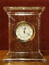 "Waterford Ireland Crystal Atrium Style Clock 7"" Tall 538.533.0062 No Box or Bag"