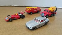 MATCHBOX CARS Lot Of 4 Vintage 1970's SUPERFAST USED CONDITION ENGLAND LESNEY