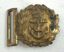 Vintage British Naval Officers Brass Belt Buckle