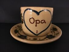 Opa Cup Mug And Saucer Hasenmuhle Pottery Weinsberg Germany