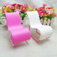 Dollhouse Miniature Furniture Rocking Chair for Pink Girls Toy suite.