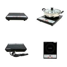 Single Burner 8 In. Black Induction Hot Plate With Shabu Cooking Pot