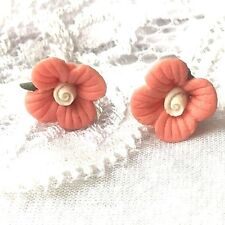 1cm flower floral pink petals stud earrings new jewellery day