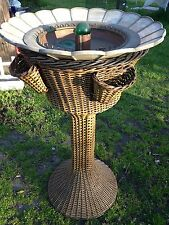 ANTIQUE  HEYWOOD WAKEFIELD WICKER  WATER FOUNTIAN as seen in 1925 magazine !