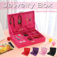 Jewelry Box Portable Storage Box Flannel Material Dressing Table Home Storage
