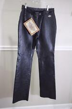 NWT HARLEY DAVIDSON Women's Approach Embossed Leather Pants Size 34/6