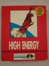 """Rare High Energy Infogrames Pc Game Collection Small Box 5.25"""" Enameled Badge"""