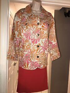 Free Shipping!  Size 18W / 18 Skirt & Jacket Set - Orange - NWOT