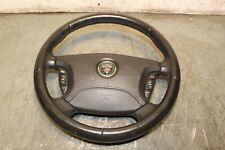 JAGUAR S TYPE STEERING WHEEL WITH AIRBAG BLACK LEATHER 2005