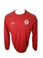 Umbro Irish Football Soccer L/S Jersey Large Embroidered Red Sligo Rovers Club