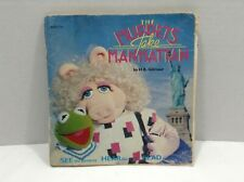 "The Muppets Take Manhattan, 7"" Kids Record And Book 1984 Nm"