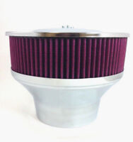 """Velocity Stack Air Cleaner 9"""" Washable Element 5 1/8"""" Neck & 4 1/4"""" Adapter"""