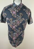 Mens Ted Baker Floral Paisley Baroque Shirt Blue 4 Large Slim 40 Chest Wisely...