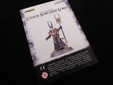 AoS Slaves to Darkness Chaos Sorcerer Lord on Plastic Frame