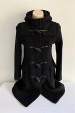 *Authenticated* BURBERRY $5500 Women's Black Wool Duffle Coat Sz US 6 UK 8 AU 8