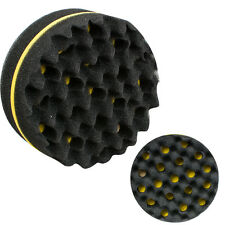 Neu Double Barber Hair Brush Sponge For Twist Coil Afro Curl Wave Round Shape