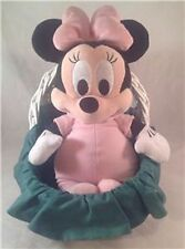 """Disney Babies Minnie Mouse Pink Stuffed Plush 14"""" Soft, with homemade bassinet"""
