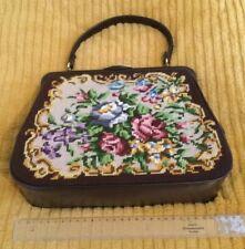 Vintage Handtasche Braun 50er Mit Geldbörse Und Spiegel