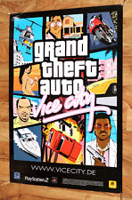 Grand Theft Auto GTA Vice City Game Store Promo Poster PS2 Rare Collectible 2002