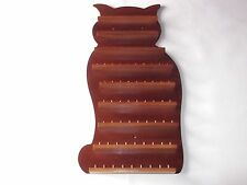 80pc Cat Wooden Thimble Display Rack ( Mahogany )( huge range - see list )